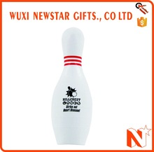 Funny Customized Logo Bowling Pin Stress Ball