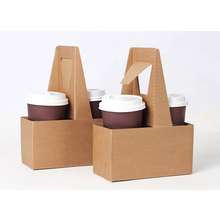 hot-selling customised disposable paper hot drinking cup carrier/cup holder