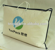 Hot selling bedding packing bag with zipper, PVC material