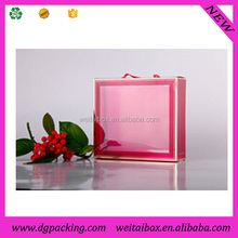 plastic folding transparent pvc t-shirt packaging box for sweater