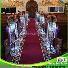 Wedding Church Hall Aisle Crystal Flower Stands Decoration