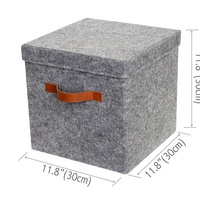 Felt Super Soft Foldable Storage Cube Box,Basket Bin Container Drawer Organizer
