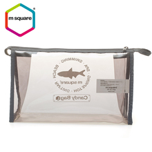 Pvc Gray Clear Eco-Friendly Wholesale Cosmetic Travel Bag