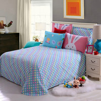 Customized 100% Cotton Single / Twin / Full / Queen Size Bed Sheet