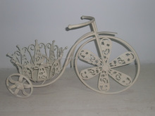 Wholesale Handicrafts Home Deck Decor Wrought Iron Plant Stand Metal bicycle planter flower pot garden ornaments