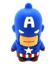 wholesale custom cartoon Captain America usb flash drives 1gb-64gb