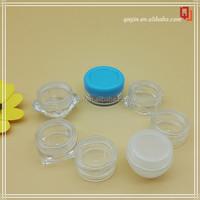 High quality 5g Small Sample Containers Mini Clear Plastic Cosmetic small ps jar 5g small plastic cosmetic packaging jar
