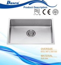 DS 6145 Contriction Best selling kitchen stainless steel handmade combo fiber kitchen sink