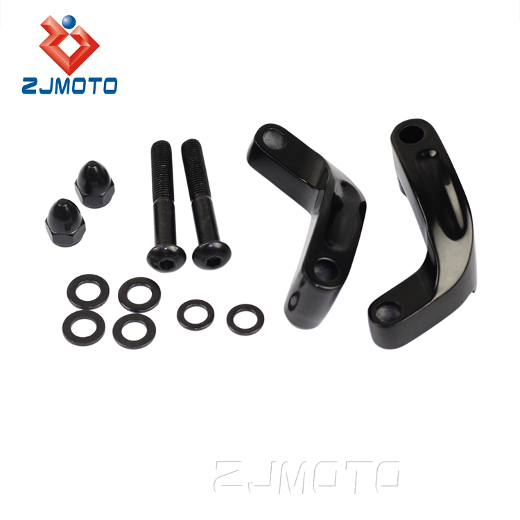 ZJMOTO Mirror Extension Adapter Kit For 2006-2014 Harley Davidson Models (See Exact Models Below)