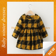 Wholesale latest 2-6 years old baby girl dress kids winter long sleeve party dress SPSY-1216