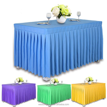 Factory Design Conference Polyester Stretch Luxury Easter Long Table Runners Meeting Navy Tablecloth Table Skirts