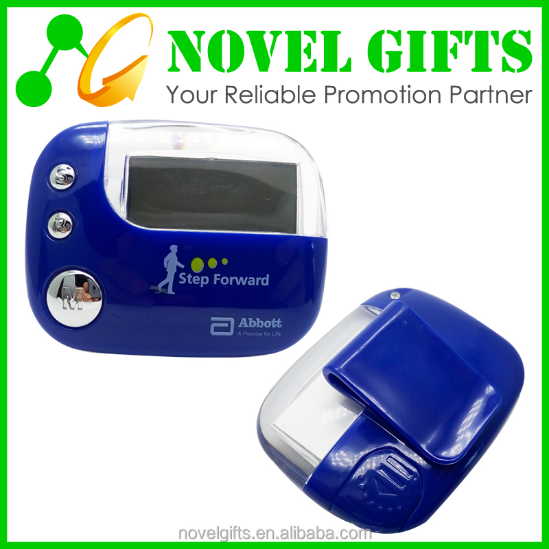 Promotion Multi-function Acylic Step Counter Pedometer