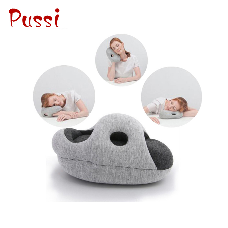 Wholesale plush ostrich travel nap pillow