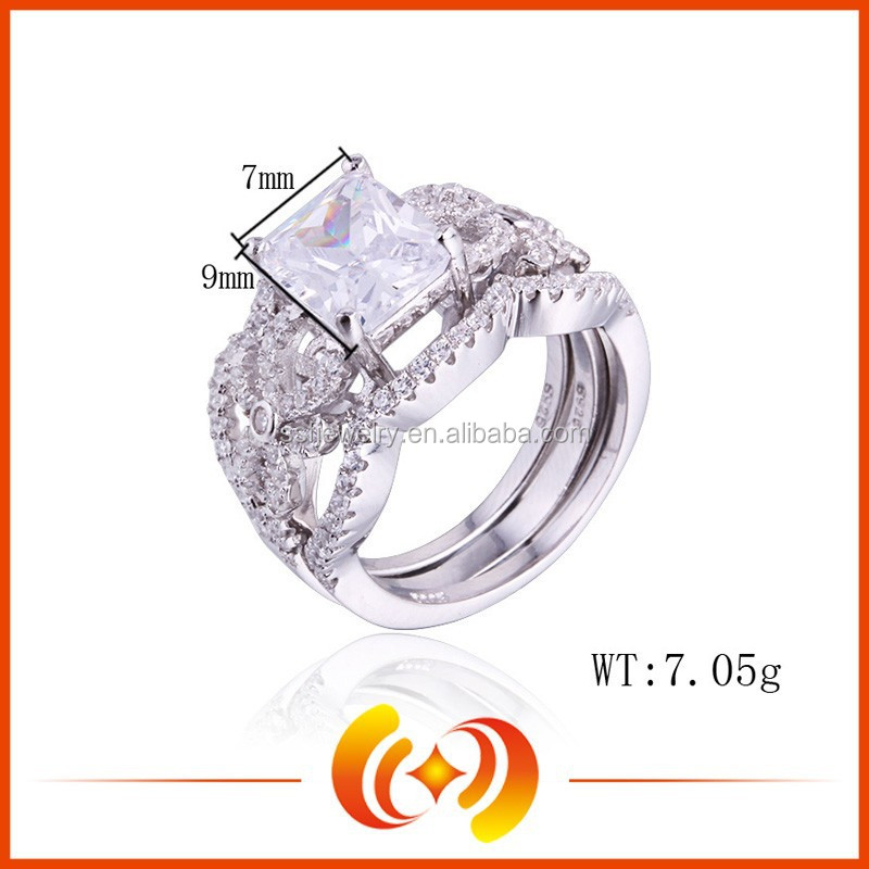SSR0194 Fashion Jewelry Diamond 925 Silver Bridal Wedding Ring