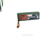 Enrichpower Lipo Battery Pack 5000mAh 7.4V 30C 2S Hard/Soft Case with Deans T Plug For RC Car Boat Drone Truck Roar Approved