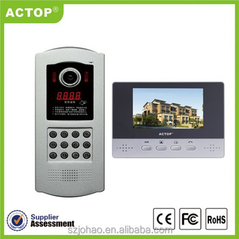 ACTOP Cheap building multi-apartment Video Door Entry system with cat5 cable