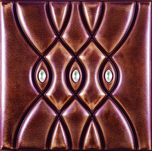 Art deco 3d leather wall decorative panels