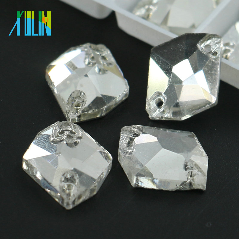 R3265 China Wholesale Sew On <strong>Crystals</strong> For Wedding Dress Flat Back Rhinestone with two holes