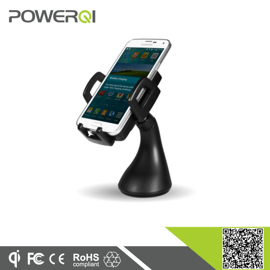 Qi standard 1 coil mobile smart wireless car charger with car holder for iPhone 7 Plus 6s 5s 5c 6s plus
