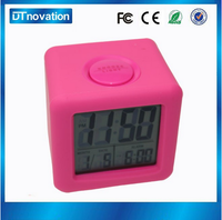 Weather Station LCD Digital Alarm Clock With Big Snooze Light Button