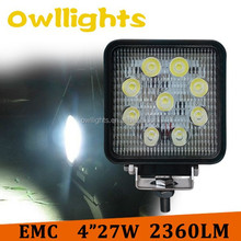 car accessories made in china super quality led work light 4inch Round led lights for trucks 27w led motorcycle headlight
