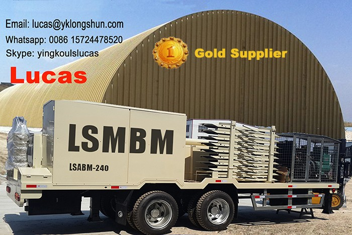 Autosoported Metallic Roof Machine Longshun K Arch Span