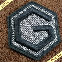 Special design Embossed 3D letter patches custom embroidered patches