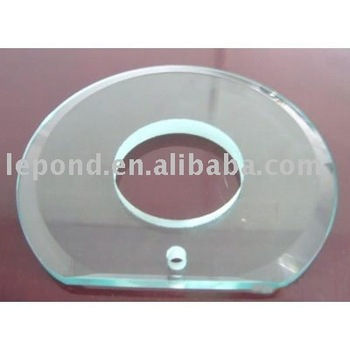 round bevelled glass