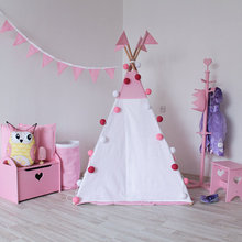 Simple pink lovely child play teepee tent