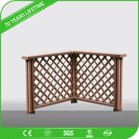 WPC wood plastic composite fence outdoor wooden fence