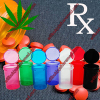 Home Pop top Pink RX Plastic medical cannabis containers