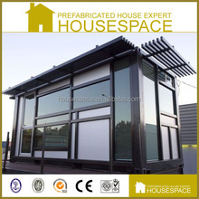 Green Portable Modular Prefabricated Aluminum Glass House