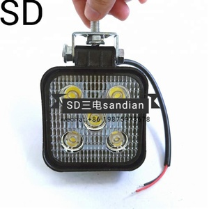 High power led work lamp 15W truck excavator lighting lamp with 5 light bulbs