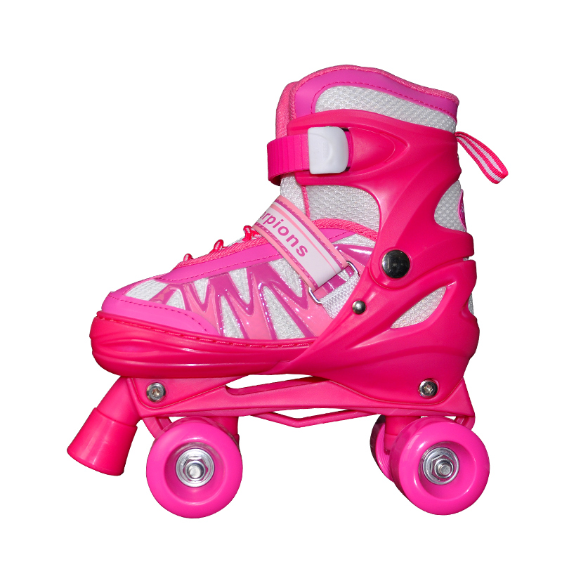 New children 4 yard adjustable double row patines PU leather kids soy luna roller skates