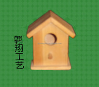 wooden decorated bird house