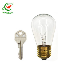 Outdoor Decoration 15w Incandescent Transparent E27 S14 Edison Tungsten Glass Bulb