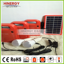 economic portable solar home light system kit 3W 9V bottom price portable solar lighting/charging system
