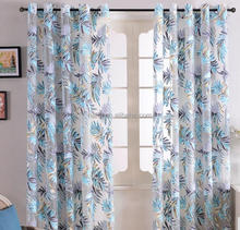 Top Finel Tropical Leaves Patterned African Print Sheer Curtains