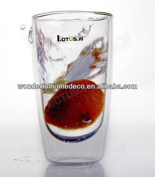 Hot sale popular 300ml Wine glass double wall glass tea cup coffee cup beer cup