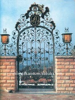 Good quality wrought iron gate for villas