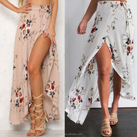 Newest hot selling size print dresses 2018 women long latest fashion maxi floral dress