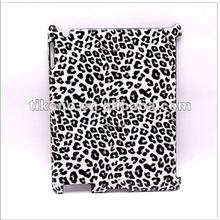 new designs leopard pattern leather skin case cover for ipad 3