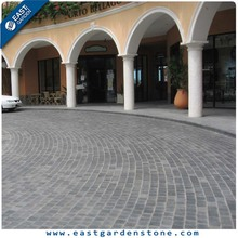 Black high hardness basalt cheap driveway paving stone
