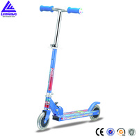 Flashing foldable skate design dual pedal scooter