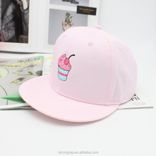 new hot sale pure color wholesale cotton flat bill hats adjust baseball caps with lovely pattern