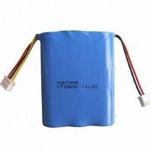 11V Lithium-ion Battery with Storage Temperature of -20 to + 45 Degrees