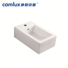 Ceramic Rectangular Square Shape Bathroom Art hand wash basin set