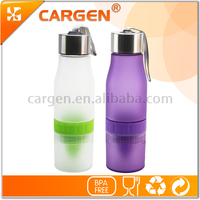 OEM 700ml sport plastic fruit filter water bottle
