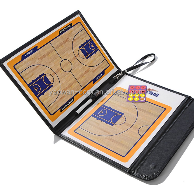 NEW foldable magnetic basketball coach tactical board