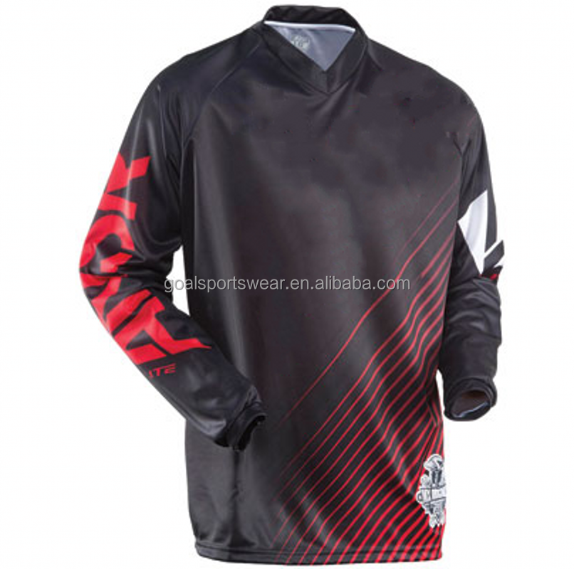 100% Polyester Dry Fit Men's Team Racing Custom Sublimation Motorcross Jerseys Manufacture in China Wholesale Price